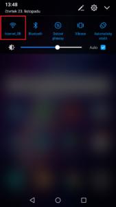 Aktivace wi-fi na Androidu