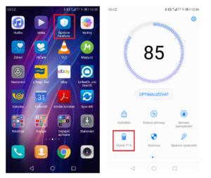 Geolokace na telefonech Huawei - vypnutí úspory energie